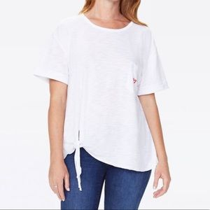 NWT Tie Front T-Shirt - Heart